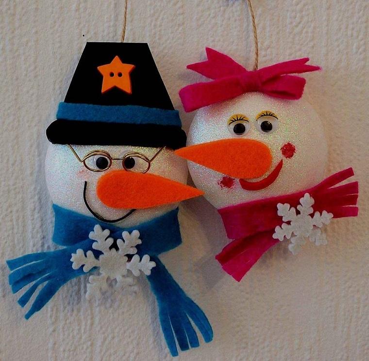 decorazioni natalizie fai da te pupazzo di neve