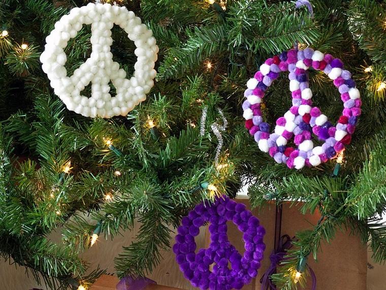 decorazioni natalizie fai da te simbolo pace