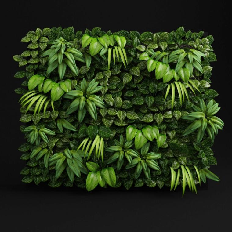 decorazioni pareti muro coperto piante verdi