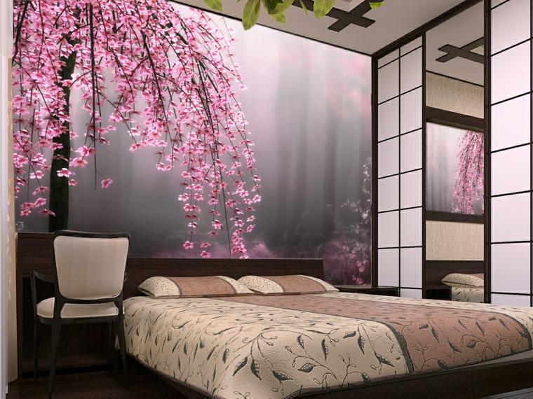 decorazioni pareti poster gigantesco amarena giapponese pende letto