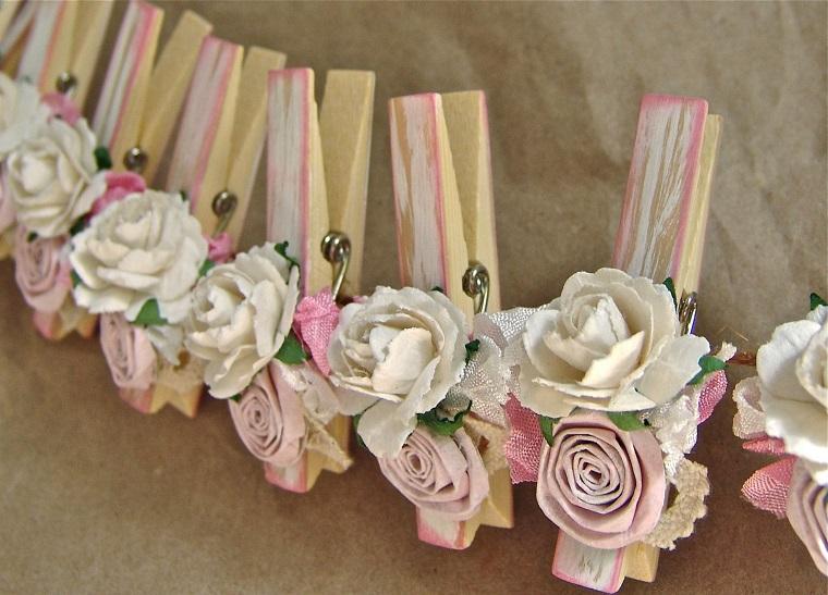 decorazioni rose pinze bucato modo originale