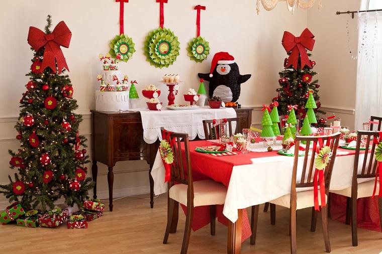 decorazioni natalizie fai da te soggiorno addobbato