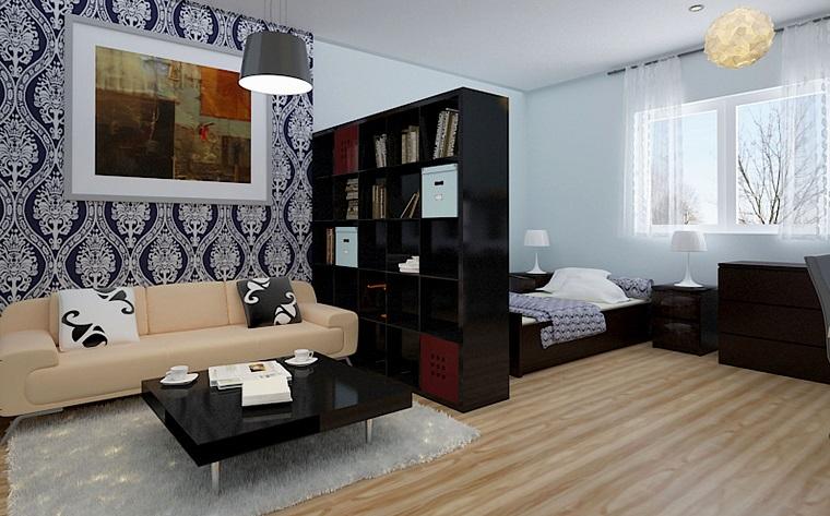 moderno interior design idea studio apartmento