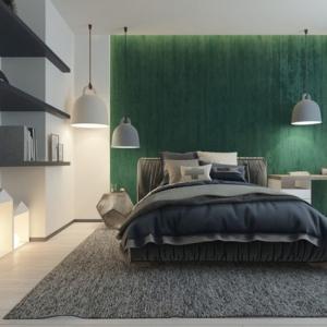 Camere per ragazzi - un tocco di verde smeraldo