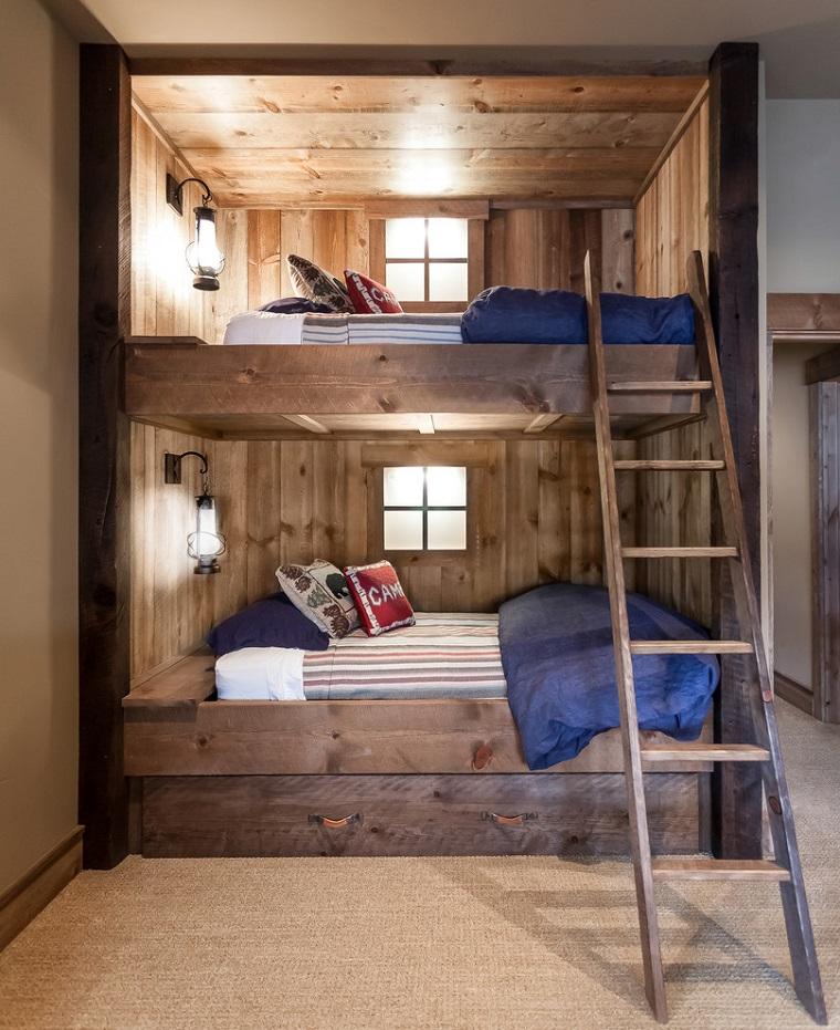 design rustico legno camera da letto