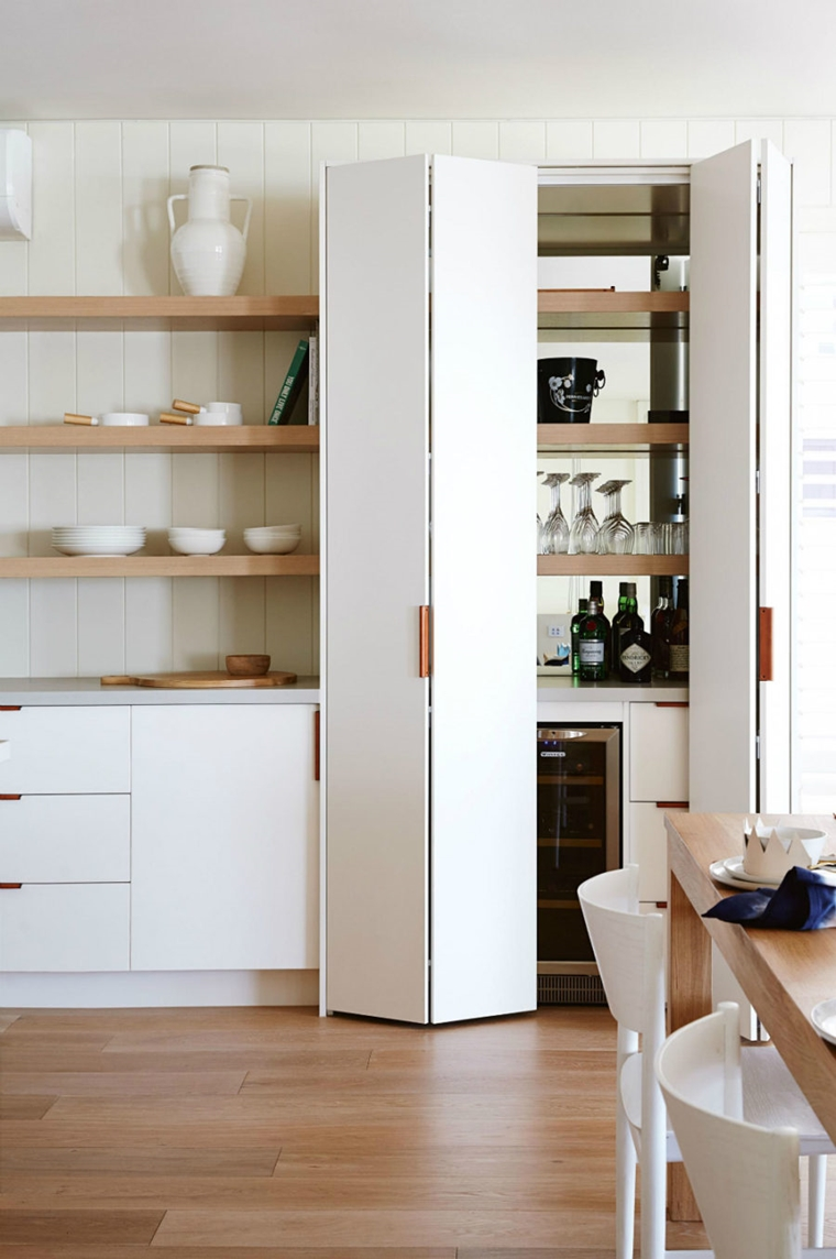 dispensa cucina lusso stile minimalista