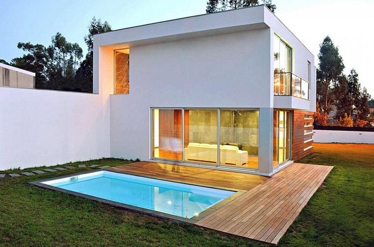 giardino con piscina piccola idea giardini casa
