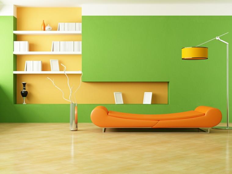 giocare colori arancione verde stile minimalista