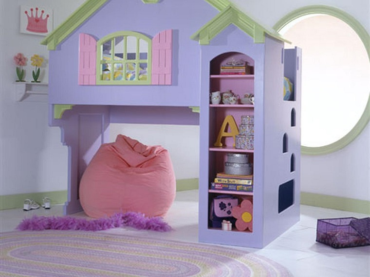 idea casa bambole letto nascosto