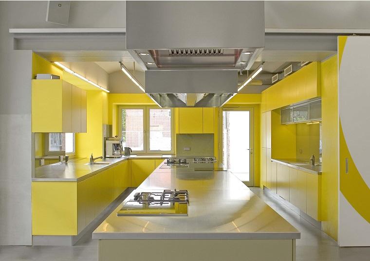 idea cucina giallo bellissima unica illuminata