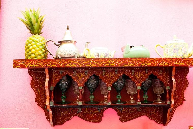 idee arredamento mensola legno decorazioni