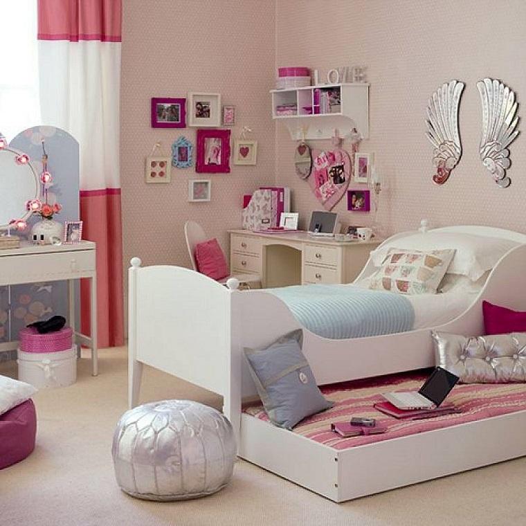 idee cameretta tante decorazioni doppio letto