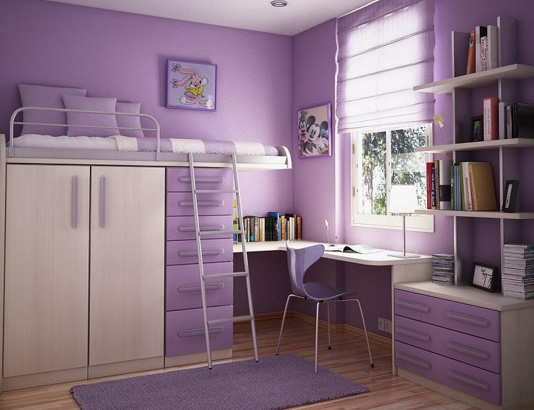 idee camerette spazio piccolo letto castello