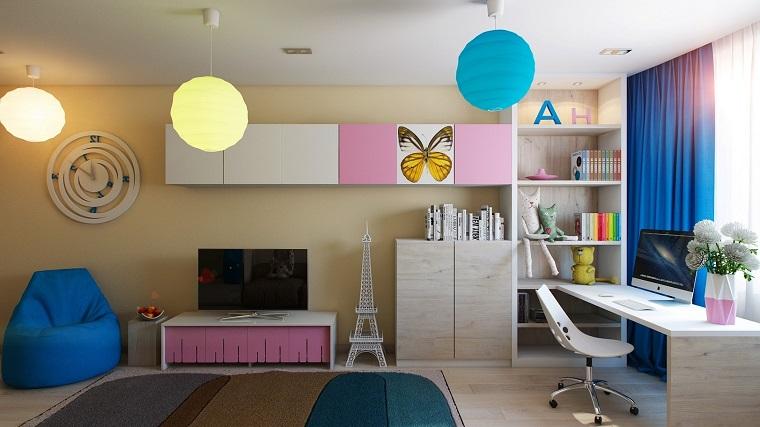 idee camerette stile moderno vari colori
