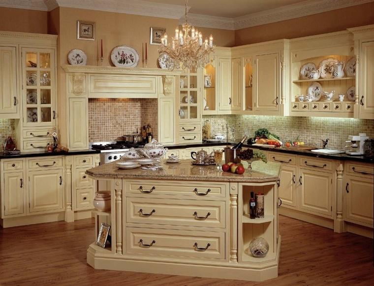 Cucina country conquista lo stile moderno in 34 idee - Mensole cucina country ...