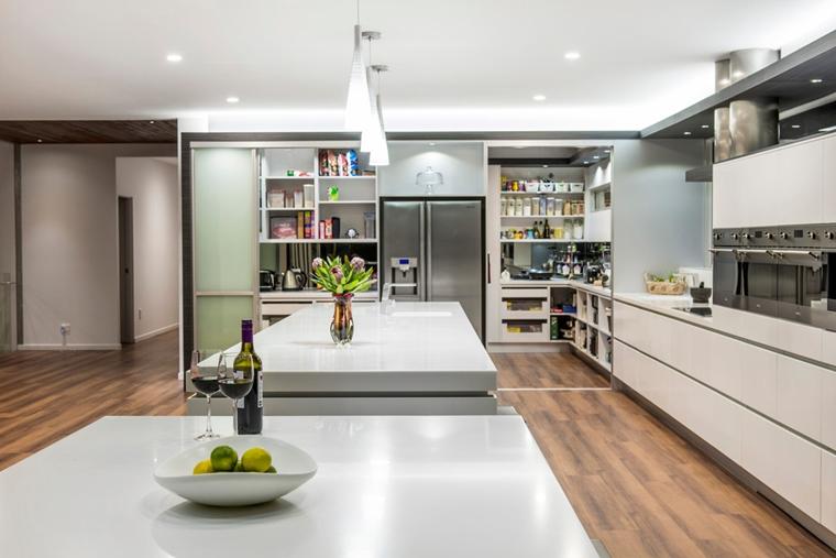 idee organizzare dispensa cucina contemporanea nascondere cibi