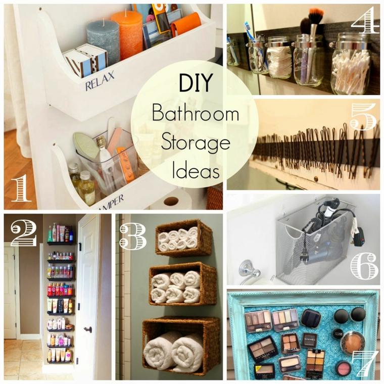 idee organizzare piccole cose bagno