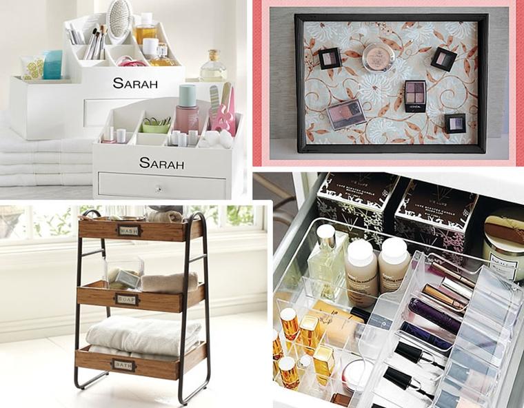 idee salvaspazio organizzare bene cosmetici