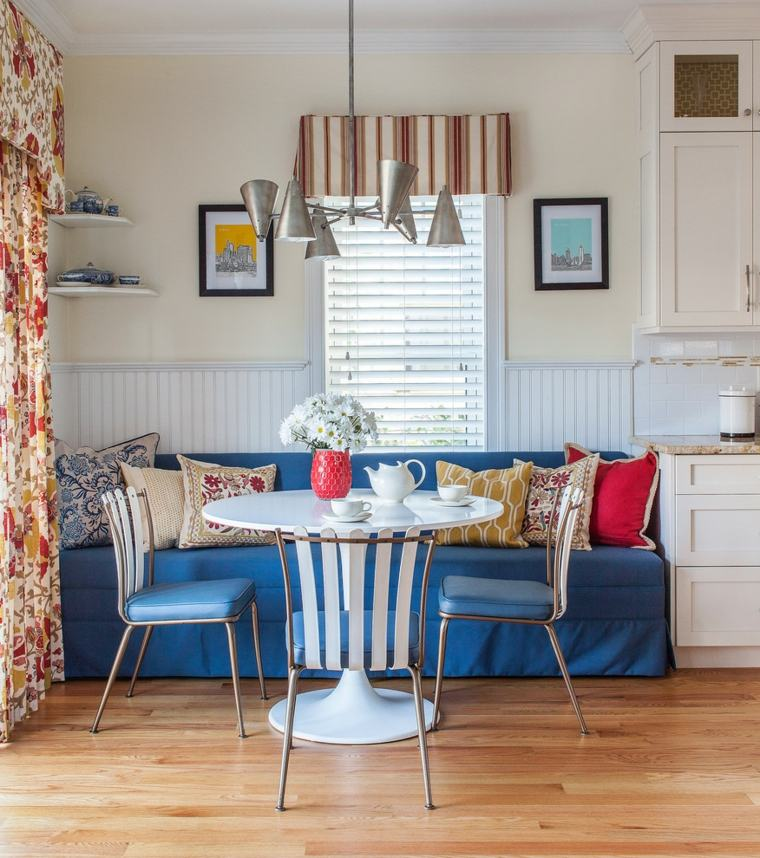 interior design boho sala da pranzo