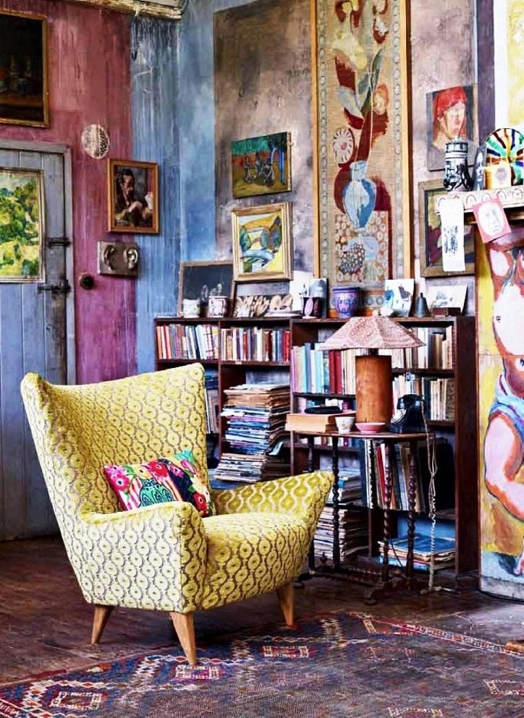 interior design colorato stile bohemien