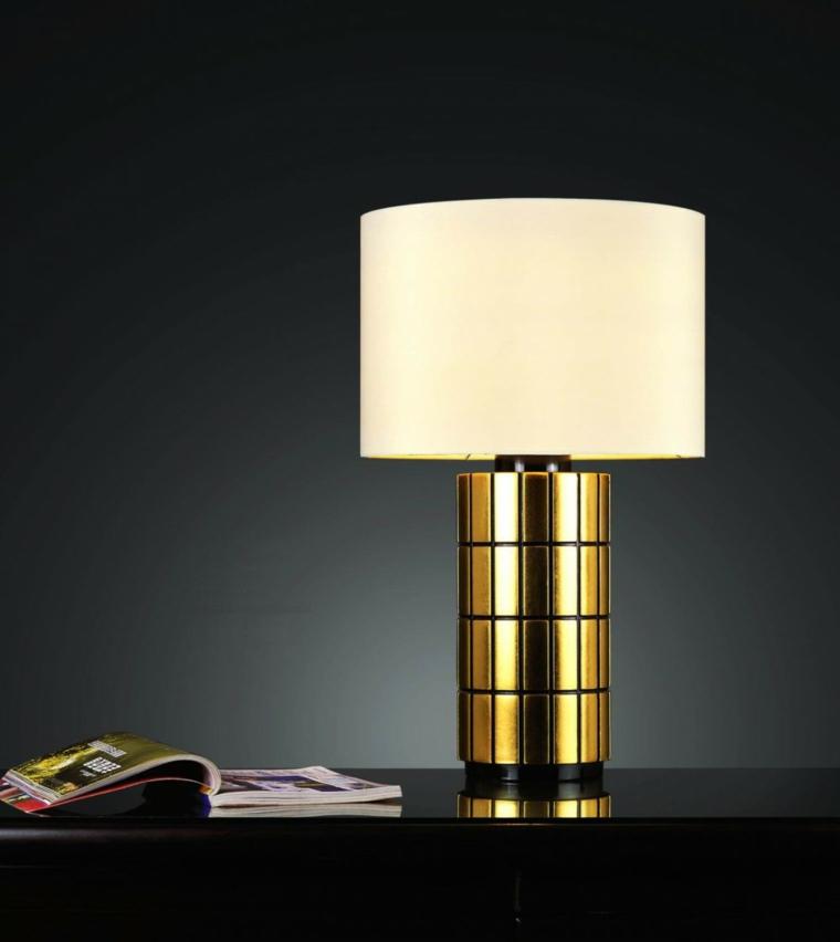 lampada tavolo forme geometriche bianco oro ottima decorazione minimalista