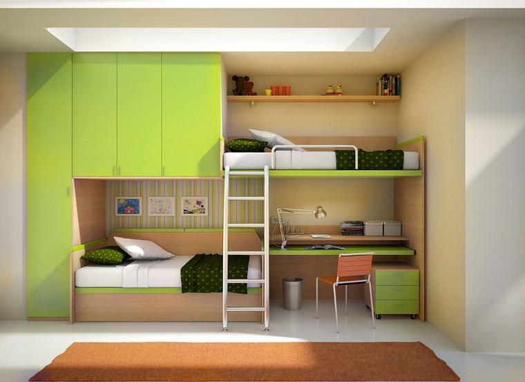 letto a castello mobili moderni colore verde