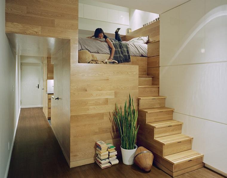 letto originale struttura legno idea salvaspazio