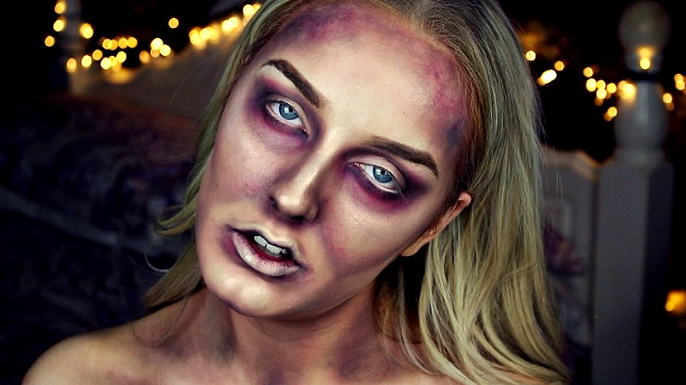 make up halloween donna zombie