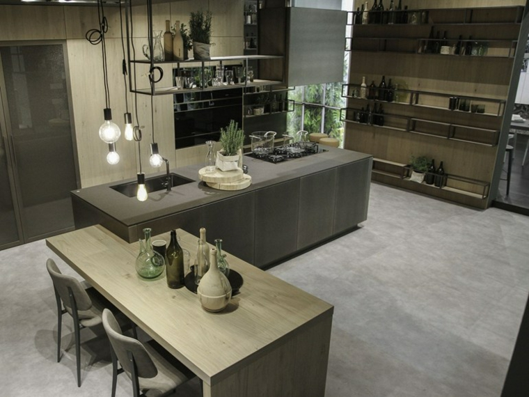 Isola Cucina Con Mensole.Mensole Design Idee E Tendenze Nella Cucina Archzine It