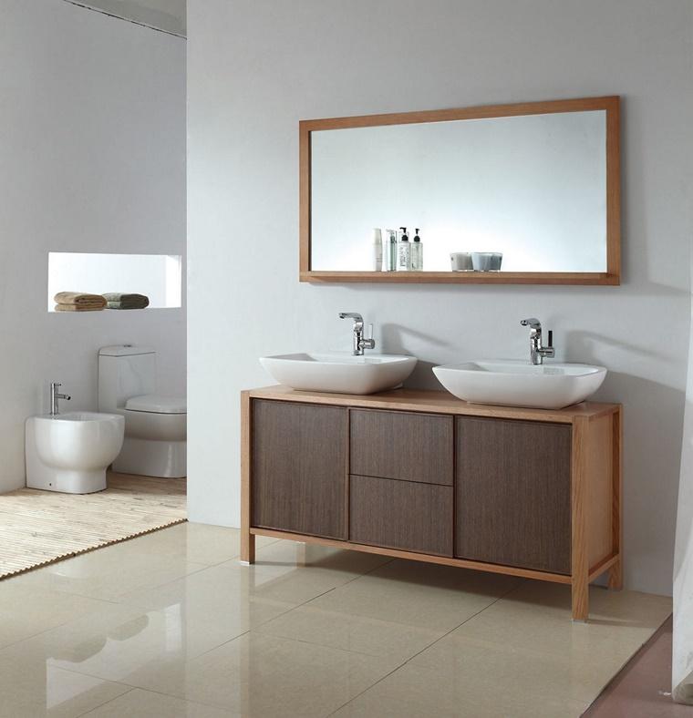 mobile legno elegante design pulito sanitari moderni