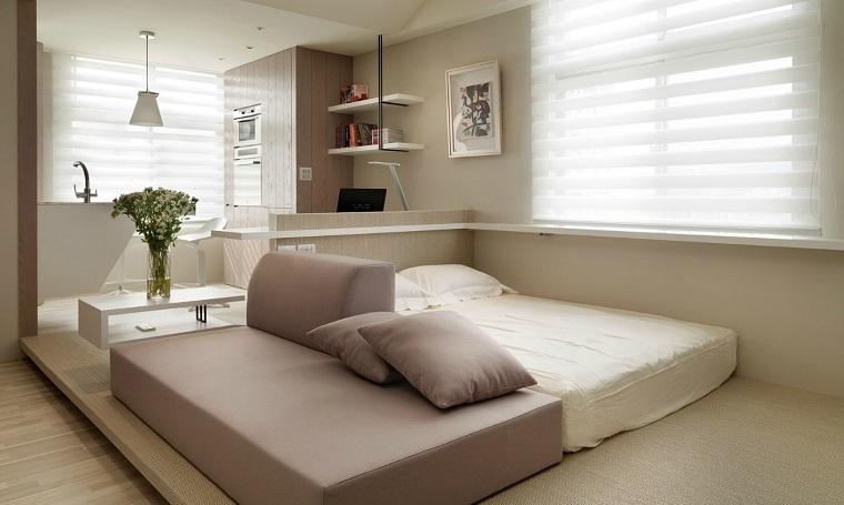mobili salvaspazio colori caldi mobili