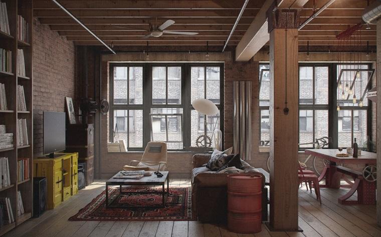 mobili stile maschile esempio loft design industriale