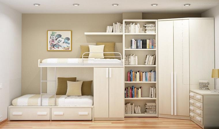 moderna composizione colore bianco integrata libreria
