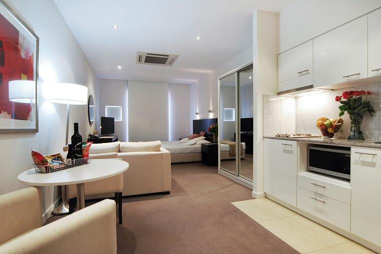 monolocale appartamento idea elegante spazio unico
