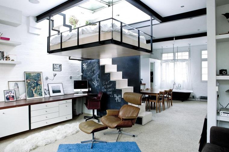 monolocale appartamento idea soppalco