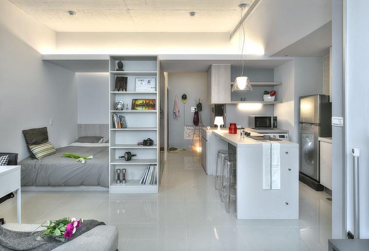 monolocale appartamento moderno mobili salvaspzio