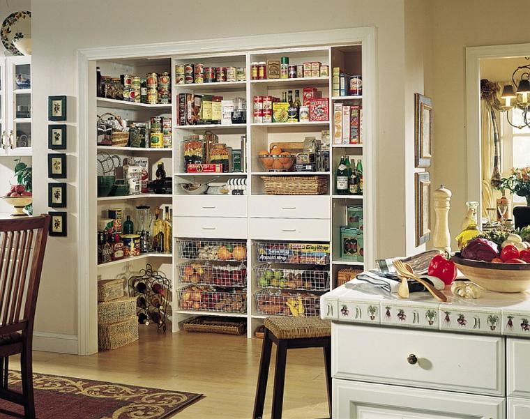 organizzare spazio cucina utilizzare aramdio muro