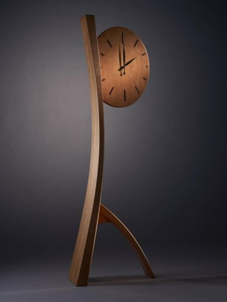 orologio decorativo legno tocco soggiorno design minimalista