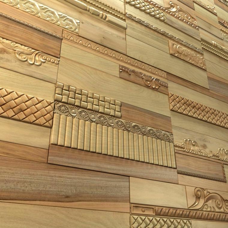 pannelli decorativi pareti legno intarsato intaglio