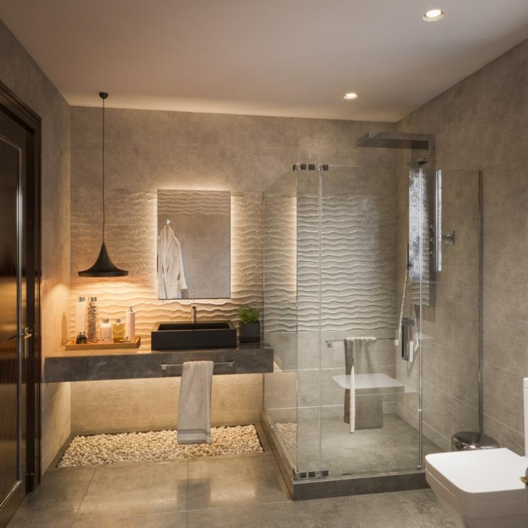Bagno piccolo soluzioni salvaspazio, sala da bagno con box doccia in vetro