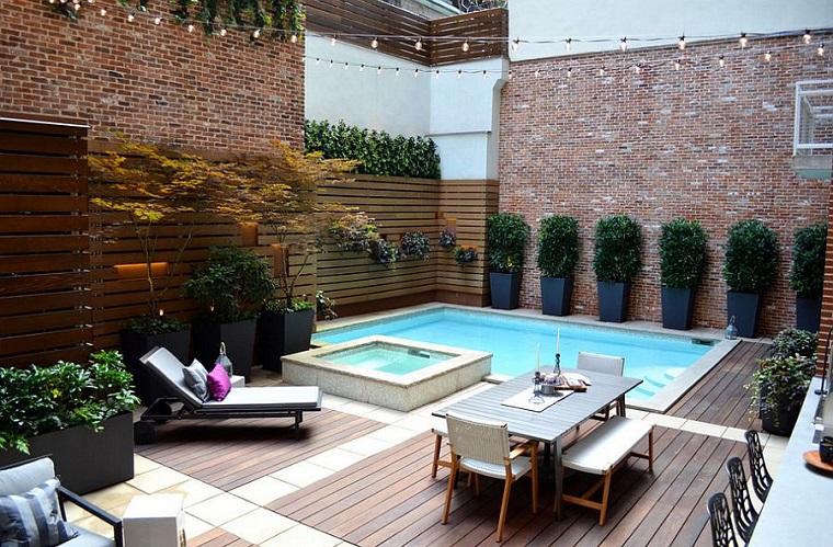 piscina stile contemporaneo momenti rilassanti