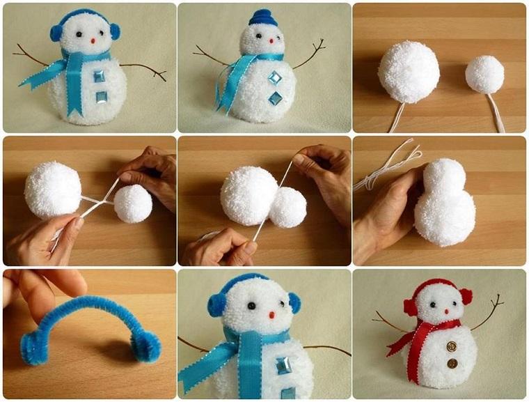 pupazzo di neve fai da te