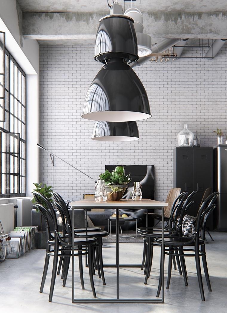 Sala da pranzo moderna 24 idee di stile da togliere il fiato - Lampadari per sala da pranzo classica ...