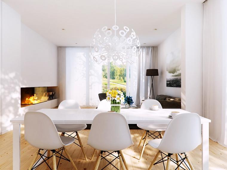 Sale Da Pranzo Eleganti Moderne.Sala Da Pranzo Moderna 24 Idee Di Stile Da Togliere Il Fiato