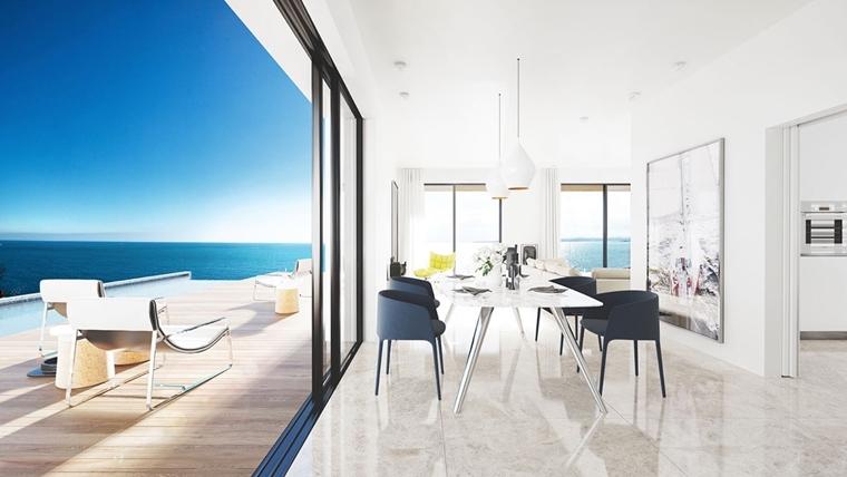 sala da pranzo stile moderno elegante