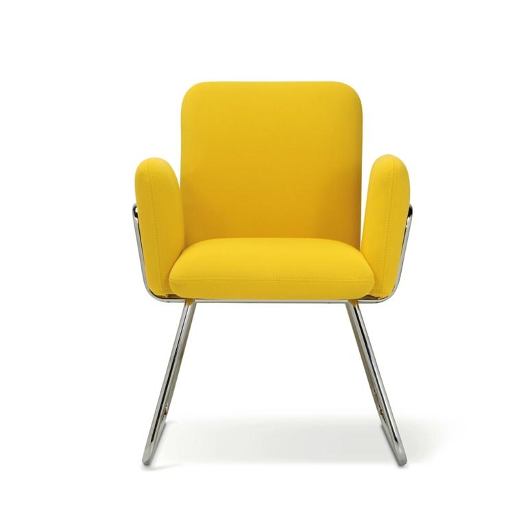 sedia gialla design stile minimalismo