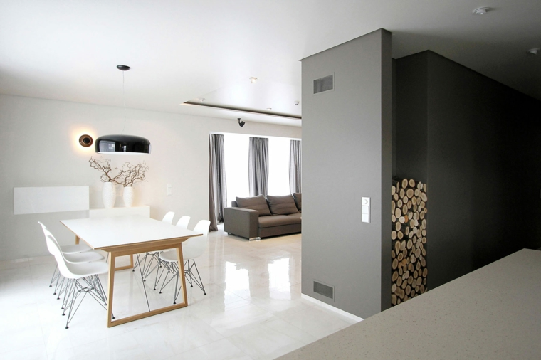 semplicità armonia trovati pavimento bianco liscio tavola sedie bianchi legna