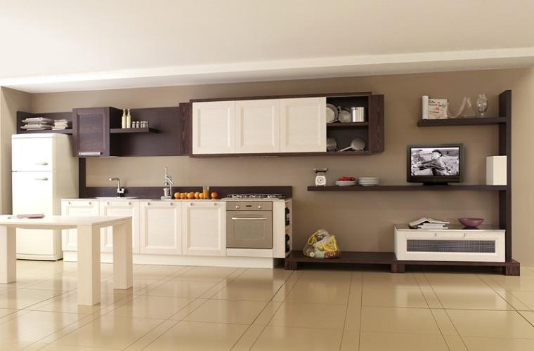 soggiorno cucina integati insieme
