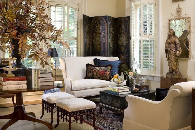 soggiorno elegante decorazione autunnale albero
