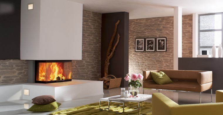 soggiorno moderno camini moderni design